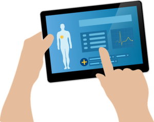Tablet portraying healthy individual