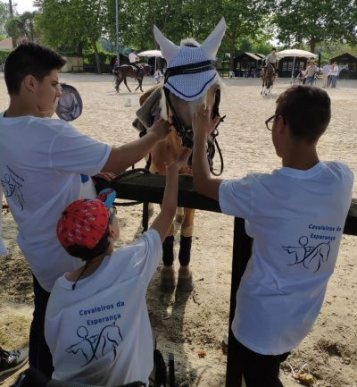 Cerebral Palsy persons with horse